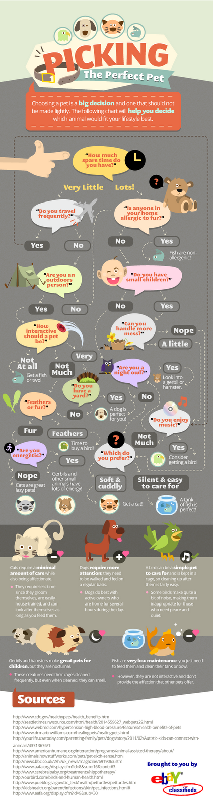 how to pick the perfect pet flowchart