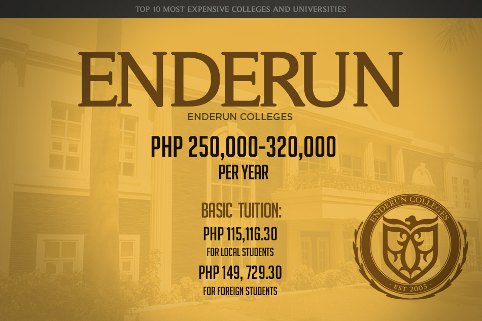 1-enderun-Most Expensive Colleges and Universities in the Philippines - Argel Tiburcio - Education Planner