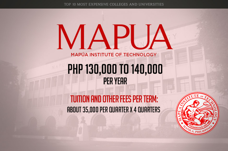 10-MAPUA-Most Expensive Colleges and Universities in the Philippines - Argel Tiburcio - Education Planner