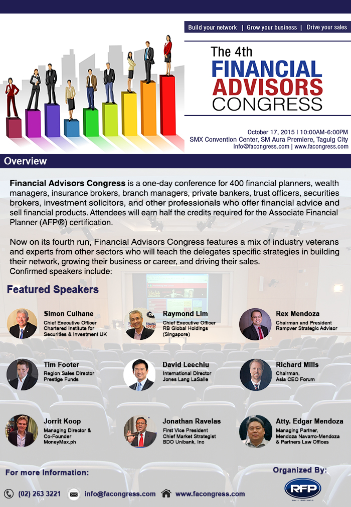 4th financial advisors congress poster