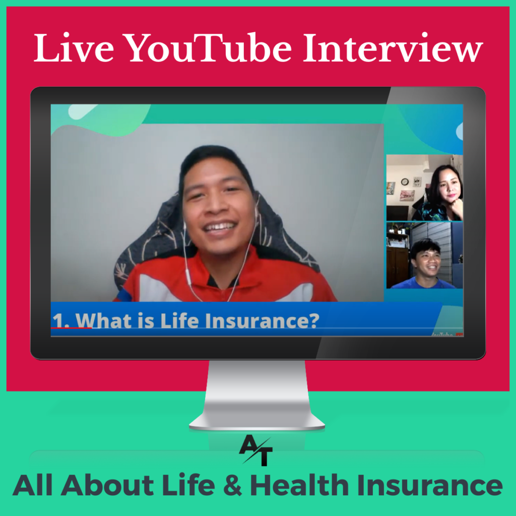 LIVE YouTube Interview about Life and Health Insurance