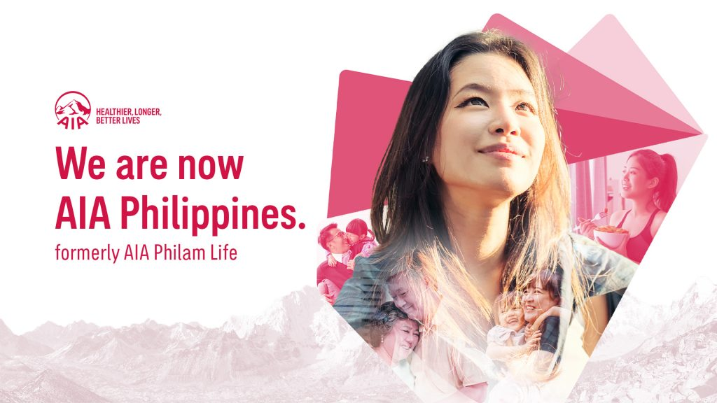 We are now AIA Philippines (formerly AIA Philam Life)